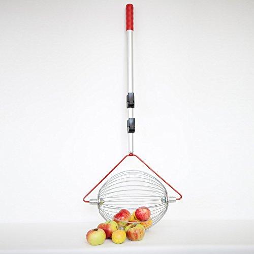 Apfel-Sammler mit Teleskopstab- der Roll-Blitz die kleinste Obstaufsammelmaschine der Welt direkt vom Hersteller für Apfel, Birnen