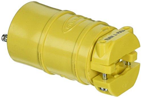 (Hubbell HBL2547 Locking Elastogrip Connector, 15 amp, 125V, L5-15R)