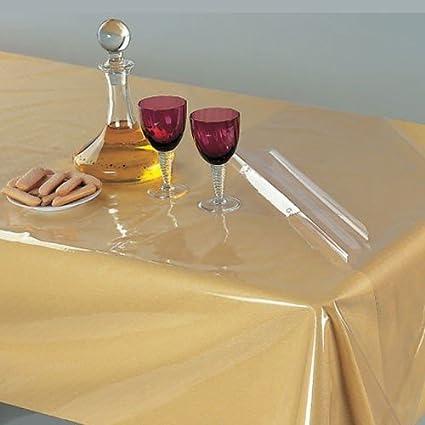 Amazon Com Clear Heavy Duty Plastic Tablecloth Restaurant Quality