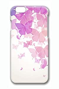 Brian114 iPhone 6 Case - Butterfly 3 Back Case Cover for iPhone 6 4.7 Inch Hard 3D Cases
