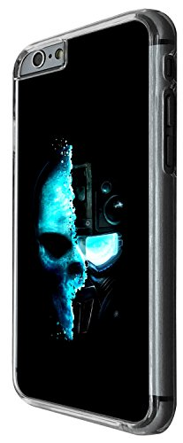 1481 - Cool Fun Trendy skeleton x-ray walking dead scary skull tattoo biker skull Design iphone 6 Plus / iphone 6 Plus S 5.5'' Coque Fashion Trend Case Coque Protection Cover plastique et métal - Clea