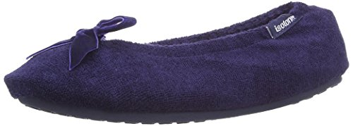 Total Immersion Swimming Isotoner Terry Ballerina Slippers - Zapatillas de estar por casa Mujer Navy