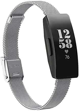 dissylove Watch Band for Fitbit Inspire HR Activity Tracker Buckle Magnetic Stainless Steel Strap Mesh Steel Belt by