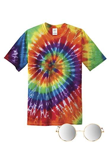 [70s Hippie Costume Kit, Mirror Small] (Tye Dye Hippie Costumes)