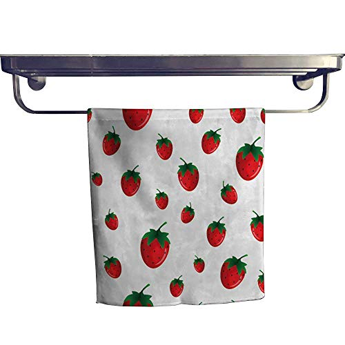 Leigh home Beach Towel,Strawberry goo for Wallpaper wrapp Papers Texture ,Luxury Towels Highly Absorbent Extra Soft W 12