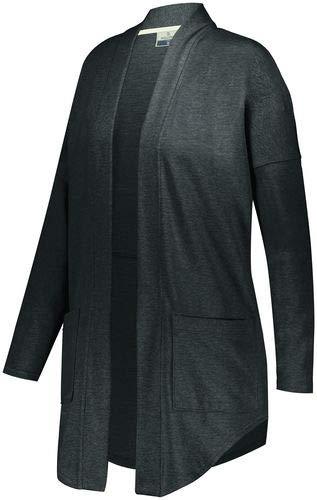 Holloway Sportswear Ladies Sophomore Cardigan S Black Heather