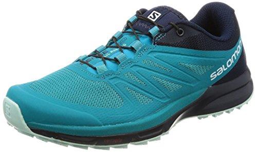 (Salomon Sense Pro 2 Running Shoe - Women's Enamel Blue/Navy Blazer/Eggshell Blue 6.5)