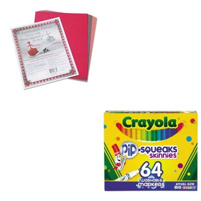 KITCYO588764PAC103637 - Value Kit - Crayola Pip-Squeaks Skinnies Washable Markers (CYO588764) and Pacon Riverside Construction Paper (PAC103637) (Skinnies Pipsqueaks Markers)