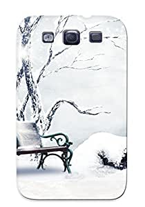 78e642c734 Crazylove Awesome Case Cover Compatible With Galaxy S3 - Nature Landscapes Trees Park Garden Bench Plants Winter Snow Seasons Cold Flowers Leaves Art Artistic Paintings