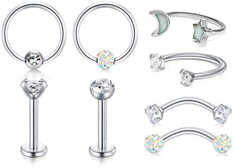 Cute Mickey Head 16G Steel Labret Lip Rings Tragus Cartilage Rook helix daith Earrings Stud Jewelry Piercing 6mm straight barbell