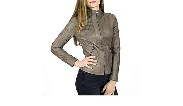 LEATHER TREND Zara - Chaqueta de Mujer de Piel auténtica, Color ...