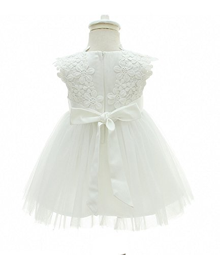 Greatop Baby Girls Dress Christening Baptism Party Formal Dress(White(Style 2),18M/15-18Month) by Greatop (Image #2)