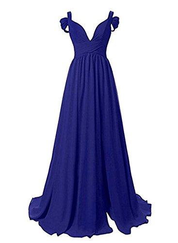 Party A Prom Gowns Women's Dress Long MALL Royalblue Chiffon BRL Line q86a8Z