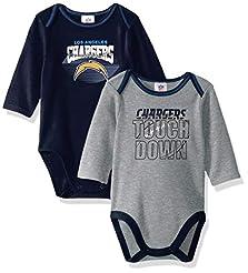 NFL Boys 2 Pack Long Sleeve Bodysuit
