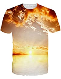 Mens Cool 3D Print Tshirts Short Sleeve Crewneck Graphic Tee Shirts Tops S-XXL