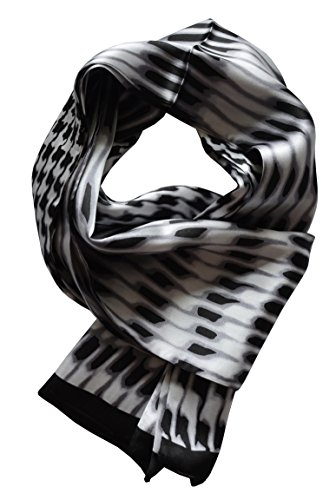 YSSP, BW houndstooth 2 63'' x 11'' Man's 100 Pure silk scarf wrap Accessory gift by YSSP