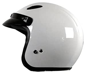 Vega X-280 Junior Open Face Helmet (White, Large)