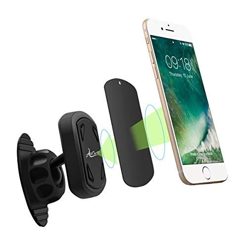 Magnetic Car Phone Mount, Car Stick On Dashboard Universal Magnetic 360 Degree Car Phone Mount Holder, for iPhone Samsung and All Smartphones with 3M Adhesive by WEILIGU