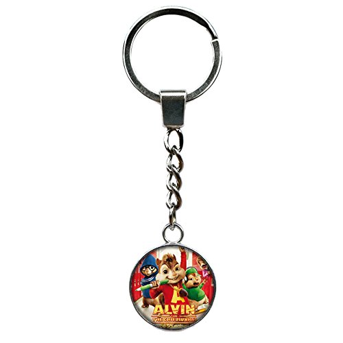 (Alvin and The Chipmunks Cartoon Key Ring Keychain for House Boat Auto)