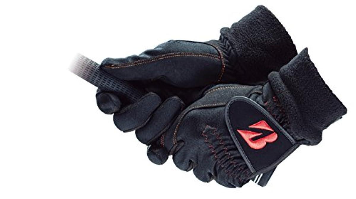 [해외] BRIDGESTONE(브리지스톤) 골프 글러브 브리지스톤 골프 글러브 WARM GRIP 맨즈 GLG68J 양손 블랙 L