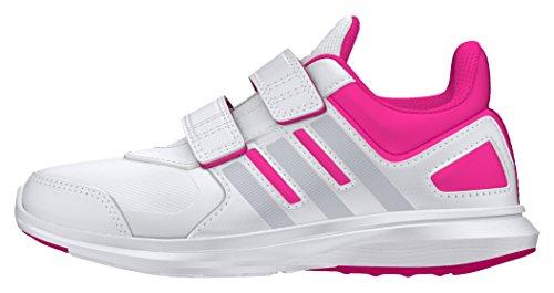 adidas Hyperfast 2.0 CF K, Zapatillas de Deporte Interior Para Niños Blanco (Ftwbla / Plamet / Rosimp)