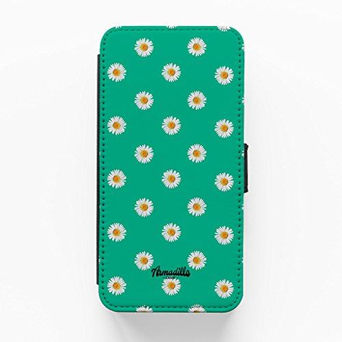 Daisys Green Print Hochwertige PU-Lederimitat Hülle, Schutzhülle Hardcover Flip Case für iPhone 6 Plus / 6 Plus vom BYMBOW + wird mit KOSTENLOSER klarer Displayschutzfolie geliefert
