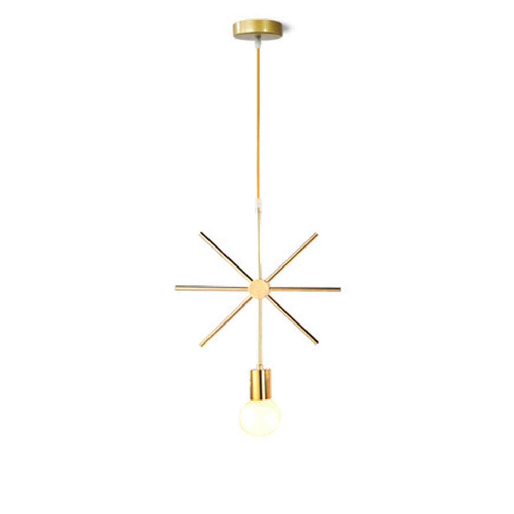 Suna Geometric Nordic Dining Room Lamp Geometric Style Copper Metal Ceiling Chandelier [Energy Quality A +]