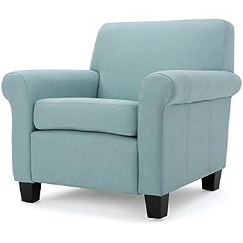 Superbe Pinehurst Light Blue Light Blue Fabric Club Chair
