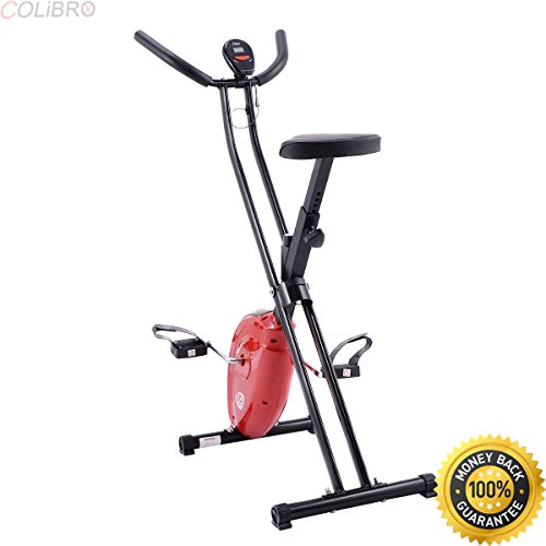 COLIBROX--Folding X-Shape Exercise Bike Cardio Workout Cycling Fitness Stationary. exercise bike cycling indoor. folding electric bike sport mountain bicycle. best stationary bike amazon. COLIBROX
