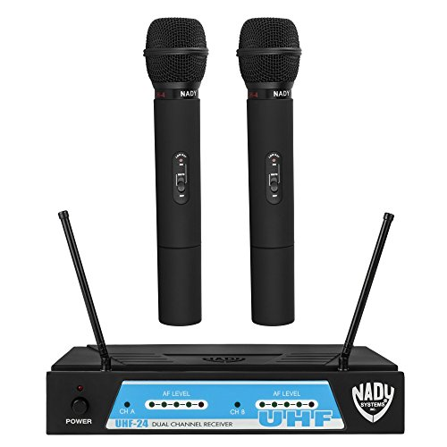 Nady UHF-24 Wireless Dual Handheld Microphone System with True (True Diversity Uhf Handheld)