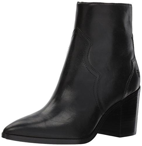 FRYE Womens Flynn Short Inside Zip Ankle Bootie Black peote2T