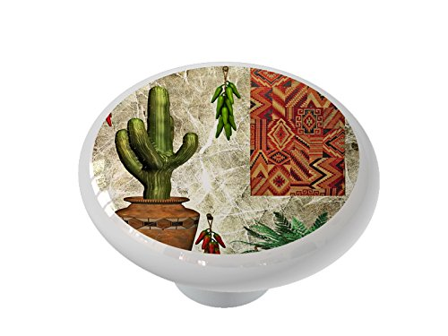 - South West Kitchen Scene Ceramic Drawer Knob