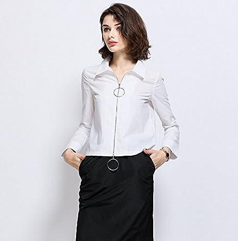 Mayihang Blusa Camisa La Mujer Primavera Camisa Blanca ...