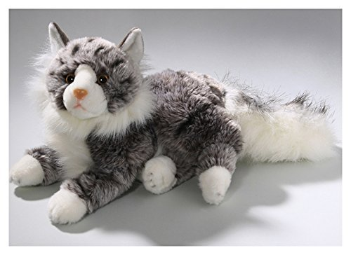 Cat, Maine Coon, 12 inches, 30cm, Plush Toy, Soft Toy, Stuffed Animal (Cat Cuddly Animal)