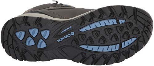Columbia Women's Newton Ridge Plus Hiking Boot, Quarry/Cool Wave, 5.5 Wide US by Columbia (Image #3)