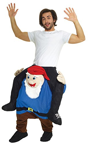 UHC Gnome Piggyback Outfit Funny Theme Party Fancy Dress Halloween Costume, (Gnome Costume Piggyback)
