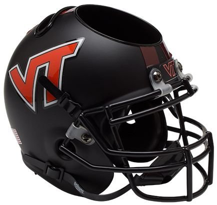 Schutt NCAA Virginia Tech Hokies Helmet Desk Caddy, Matte Black by Schutt