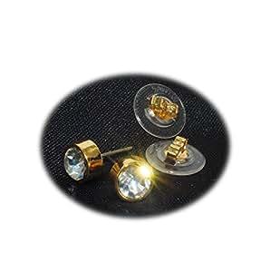 Piedras armadas de metal-pendientes chapado en oro con cristales de Swarovski Elementos hasta 50% de descuento