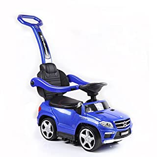 Best Ride On Cars 4 in 1 Mercedes Push Car Blue