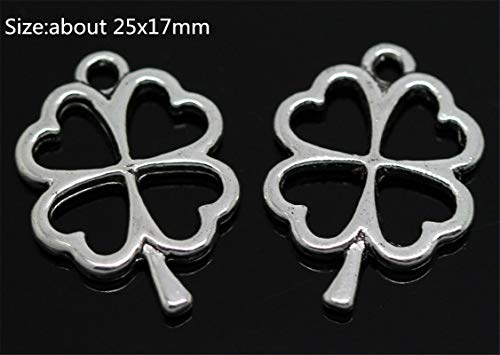 Wholesale Antique Silver Beautiful Fashion Jewelry Charms Pendant Crafts Making (Model - 10pcs Leaves #2) from Bazzano