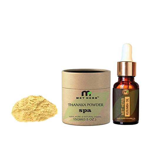 Metherb Thanaka Powder 100 G And 100 Ml Kusumba Oil For Permanent