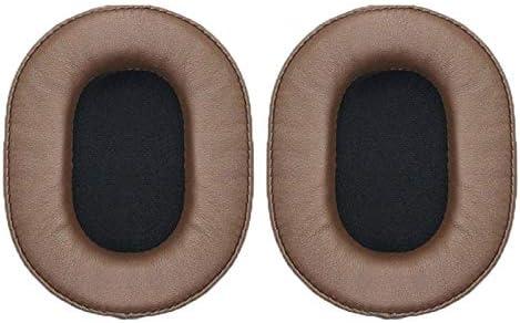 オーディオテクニカATH-MSR7 / M50X / M20 / M40 / M40X用1ペア柔らかいスポンジイヤーマフヘッドフォンジャケット プレミアム品質 (Color : Brown)