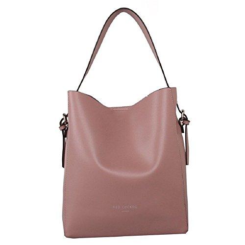 Designer Red Cuckoo London Shoulder Bag with Magnetic Clasp Beige - 346