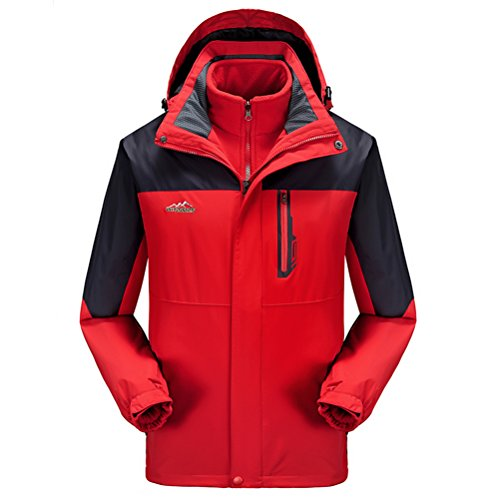 Timeiya Men's Waterproof Jackets for Skiing Outdoor Two Piece Set Warm Thicken