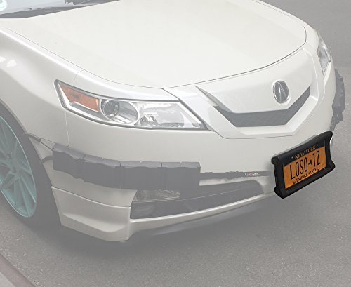Bumper Thumper Ultimate Complete Coverage Front Bumper Guard Shock Absorbing Flexible License Plate Frame PROTECTION SYSTEM (License Plate Frame ONLY) (Guard System)