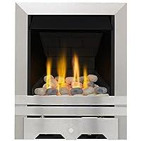 Lilliput Slimline Radiant Gas Fire - Brushed Steel