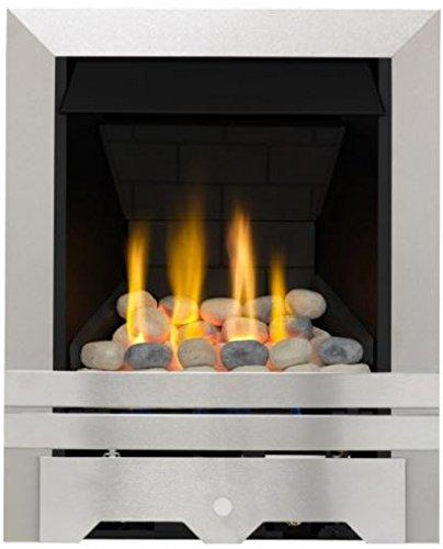 Lilliput Slimline Radiant Gas Fire - Brushed Steel Focal Point Fires FPFAZ00101