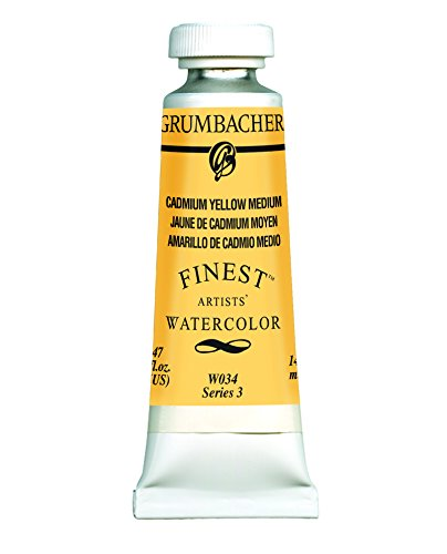 (Grumbacher Finest Watercolor Paint, 14 ml/0.47 oz, Cadmium Yellow Medium)
