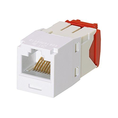PANDUIT mini-com cat5e tx-5eモジュラージャック、ホワイト、50のボックスcj5e88tgwh B005MKC45M