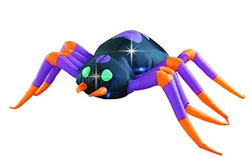 BIGJOYS 8 Ft Halloween Spider Decoration Inflatable Huge Spiders Decorations Inflatables Decor for Home Yard Lawn Garden Indoor Outdoor